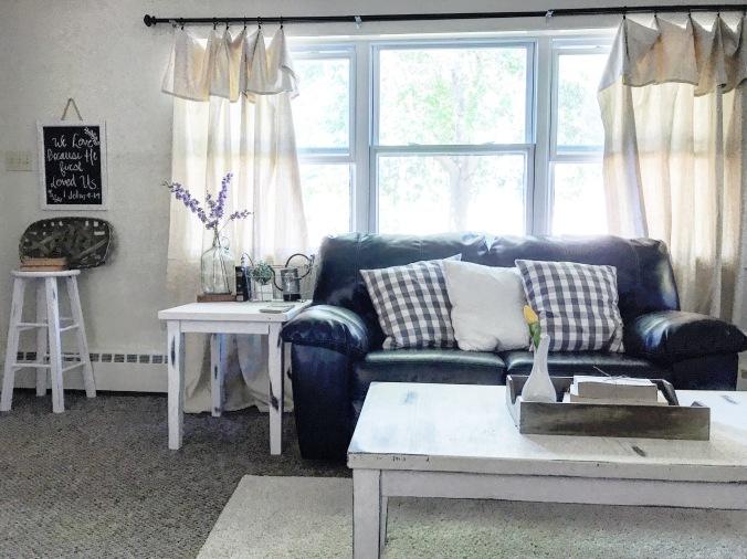 DIY Farmhouse Curtains